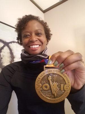 2016 NYCM Post Race Medal Photo