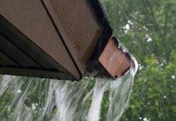 Overflowing Rain Gutter