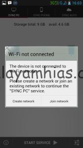Klik Create network
