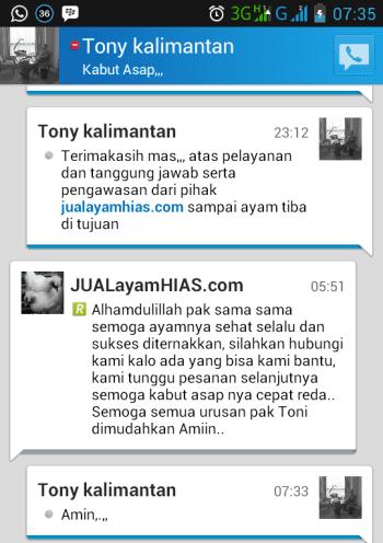 Testimonial Bapak Tony Kalimantan
