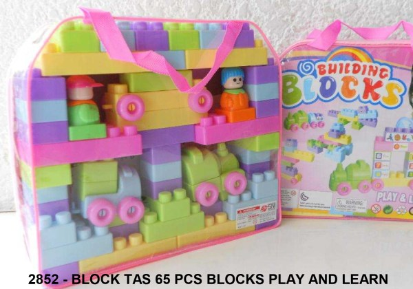 Block Tas 65 Pcs Play And Learn