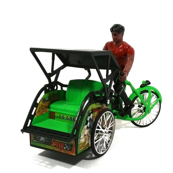 Mainan Anak Replika Becak Indonesia