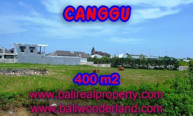 Tanah di Bali dijual 400 m2 di Canggu Brawa