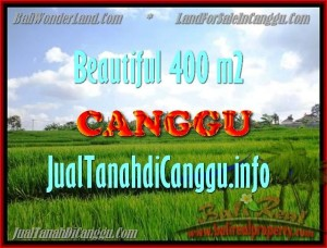 TANAH MURAH  di CANGGU BALI DIJUAL 400 m2  View Sawah, lingkungan villa