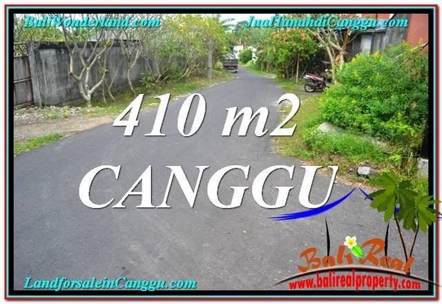 TANAH MURAH di CANGGU DIJUAL 410 m2 di Canggu Pererenan