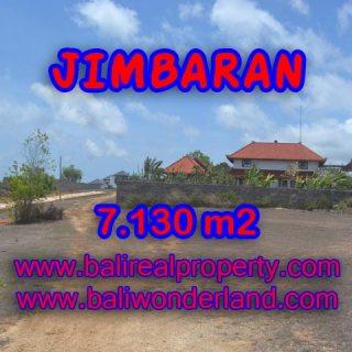 Jual tanah di Jimbaran Bali 7.130 m2 Lingkungan villa di Jimbaran Ungasan