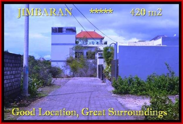 JUAL TANAH MURAH di JIMBARAN 420 m2 Lingkungan villa dan Hotel
