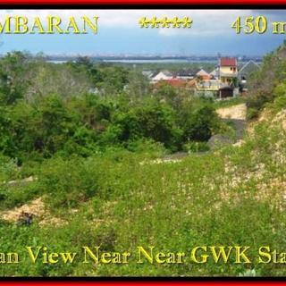 TANAH MURAH di JIMBARAN BALI 225 m2 View laut toll Lingkungan villa