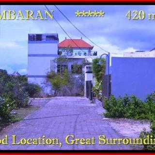 TANAH DIJUAL MURAH di JIMBARAN BALI 420 m2 di Jimbaran Ungasan
