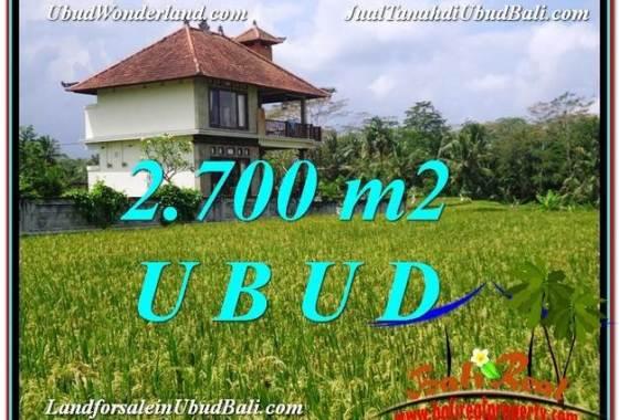 TANAH MURAH JUAL UBUD 2,700 m2 View Sawah link Villa