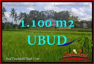 JUAL TANAH di UBUD 1,100 m2 View Sawah link Villa