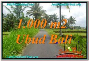 TANAH JUAL MURAH  UBUD 1,000 m2  View Sawah, Link. Villa