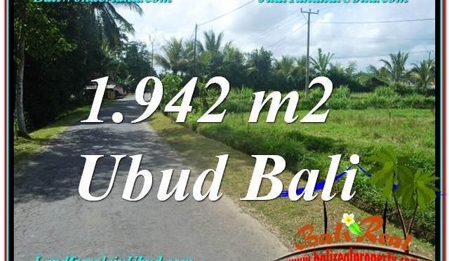 TANAH MURAH di UBUD BALI 1,942 m2 View Sawah