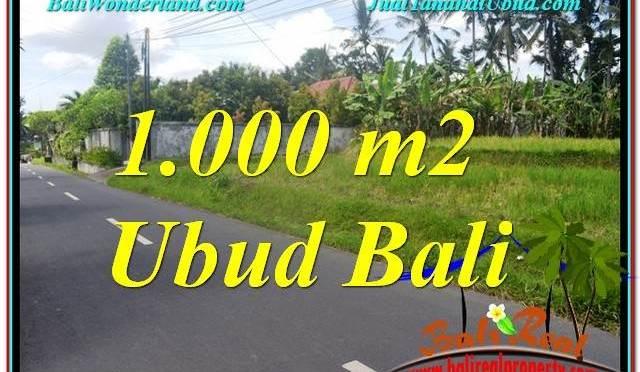 TANAH MURAH DIJUAL di UBUD BALI 1,000 m2 di Sentral / Ubud Center