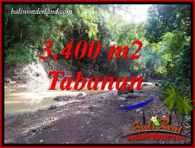 JUAL Tanah di Tabanan 3,400 m2 View Kebun dan Sungai