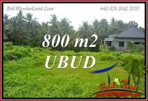 JUAL Murah Tanah di Ubud Bali 800 m2 View sawah lingk. Villa