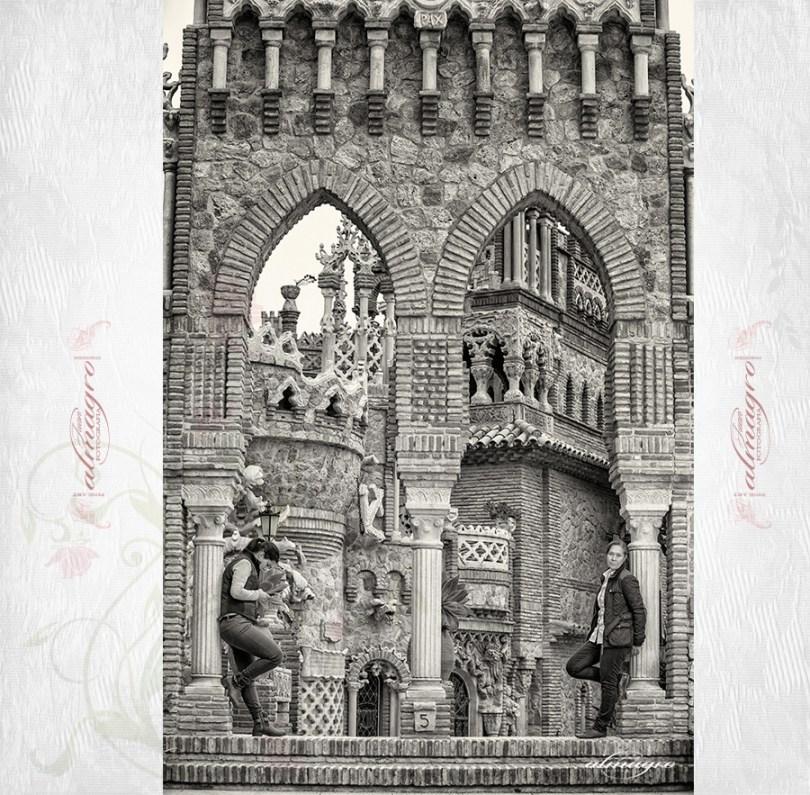Fotografia de localizacion del castillo de colomares con motivo de la posboda. Juan Almagro Fotografo de Bodas