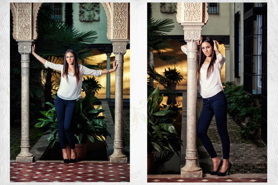 Sesión de fotos para Eva Gamiz, Miss Granada 2012 en el Carmen de Los Martires de Granada