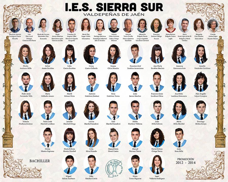 Orla de los alumnos de Bachiller de Valdepeñas de JAÉN