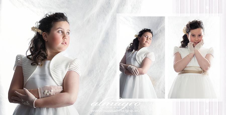 Fotos de comunión en estudio por Juan Almagro Fotógrafo
