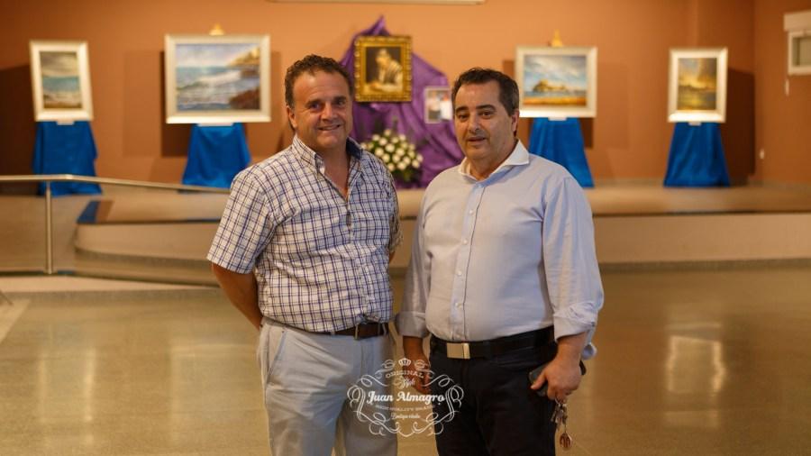 Rafael Rivilla autor de la exposición y Juan Manuel Amate Director de la biblioteca