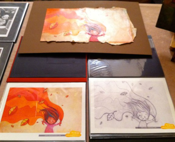 Two Portfolios: colored pieces and sketches