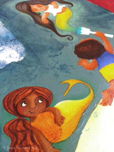 Work in progress of illustration for Jorge, el Pintor de Sirenas