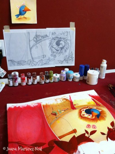 Painting Pajarito