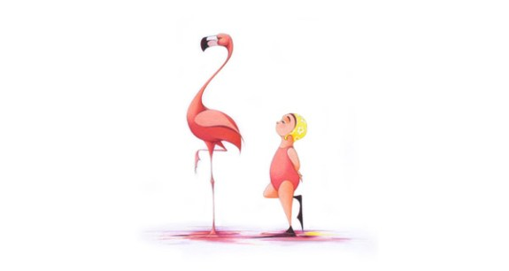 Flamingo Dancing by Molly Idle
