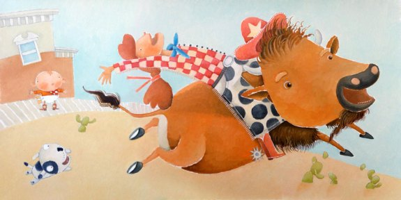 Illustration from Such a Silly Baby! - Chronicle 2007 - illustrated by Amanda Shepherd
