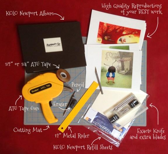 The Craft of Portfolio Artwork Mounting: Materials