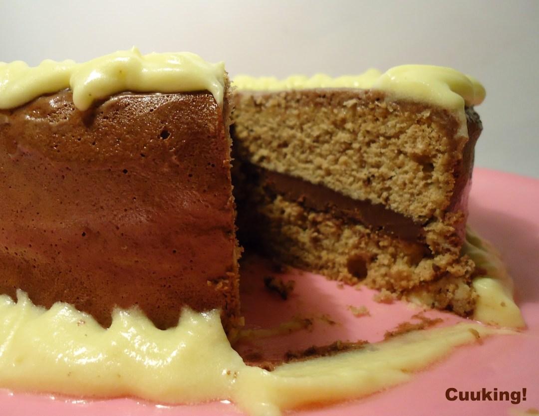 Tarta de chocolate y limón