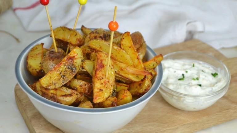 Patatas deluxe al horno ¡Y su salsa!