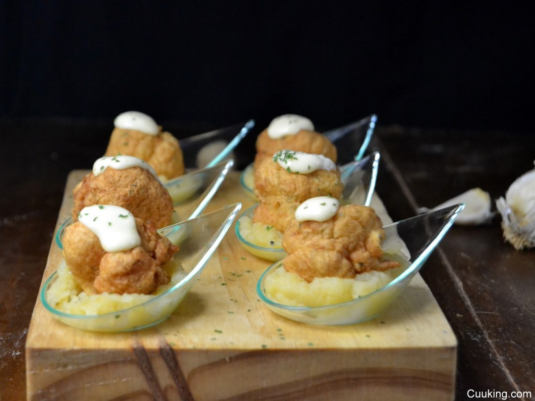 Buñuelos de bacalao con manzana #TeConozcoBacalaoTS Cuuking