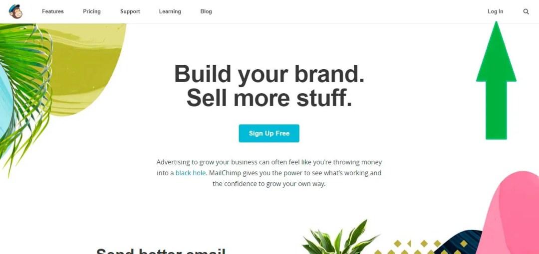 crea tu propia landing page usando mailchimp