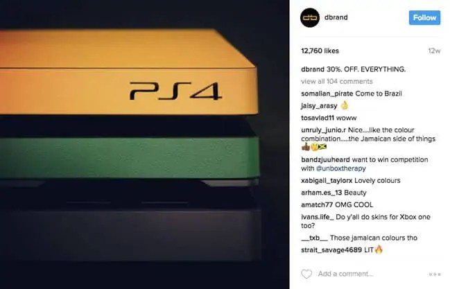 estrategia de marketing en instagram-dbrand