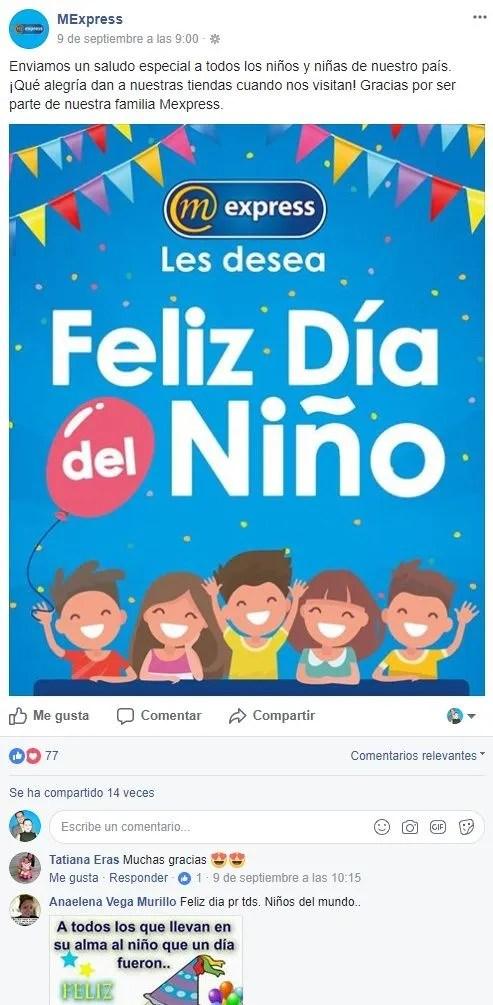 estrategia de Mexpress día del niño