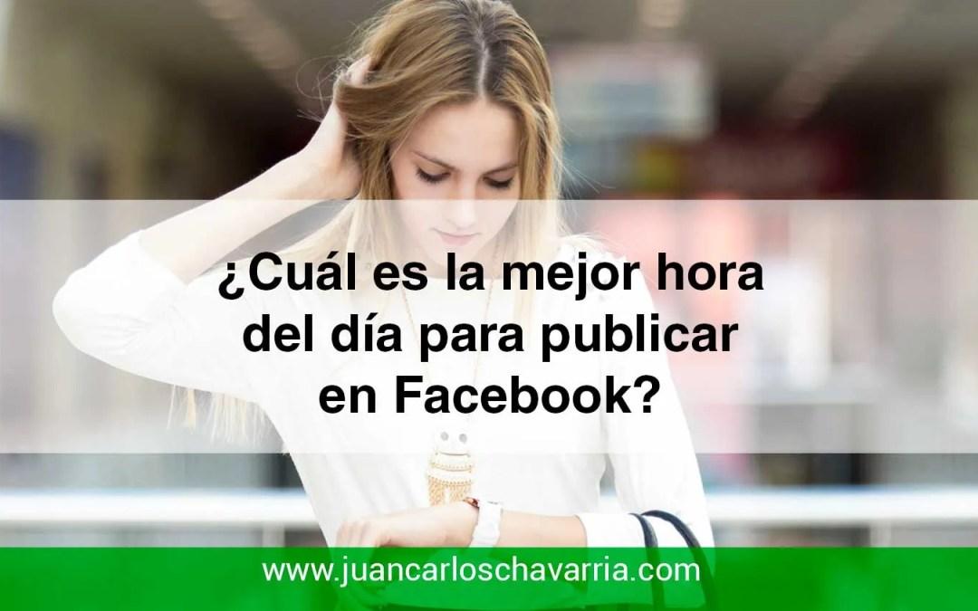 ¿Cuál es la mejor hora del día para publicar en Facebook?