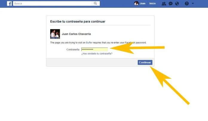autorizar que facebook se conecte con buffer