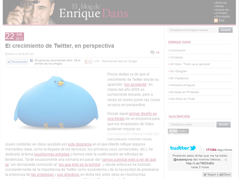 Enrique Dans 5 formas para integrar su sitio Web con redes sociales: guía para el Community Manager