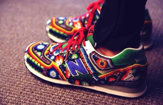 Huichol-Inspired New Balance Sneakers by Mexican Designer Ricardo Seco