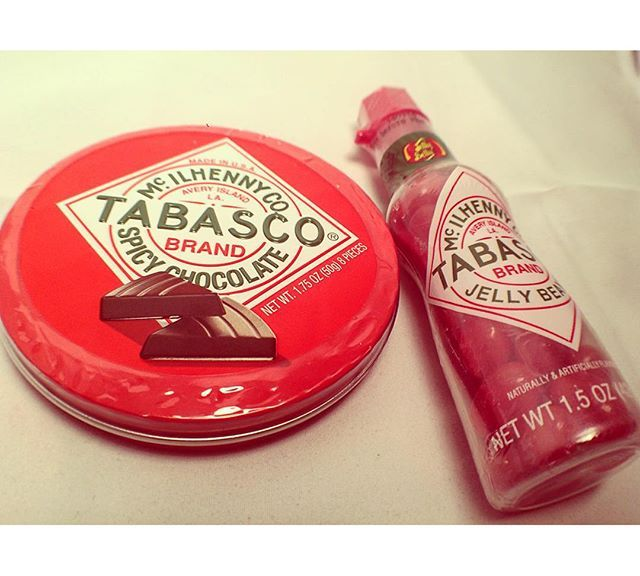 Tabasco. Chocolate & Jelly Beans.