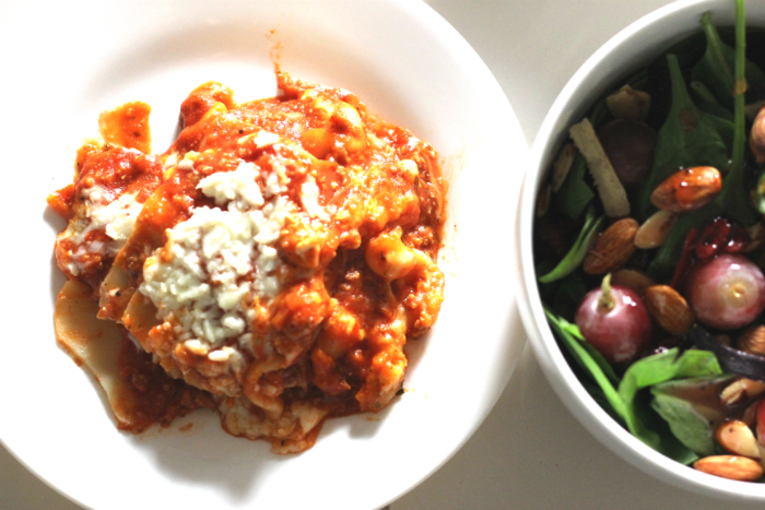 A tasty and simple meal for everyday: Lasagna with Meat & Sauce - #BalanceYourPlate #ad