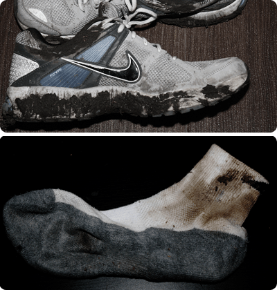 Dirty Shoes and Sock