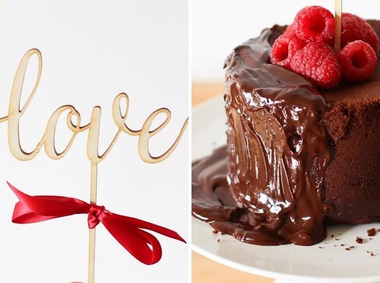 Rezept für einen Love Kuchen oder Torte zum Valentinstag