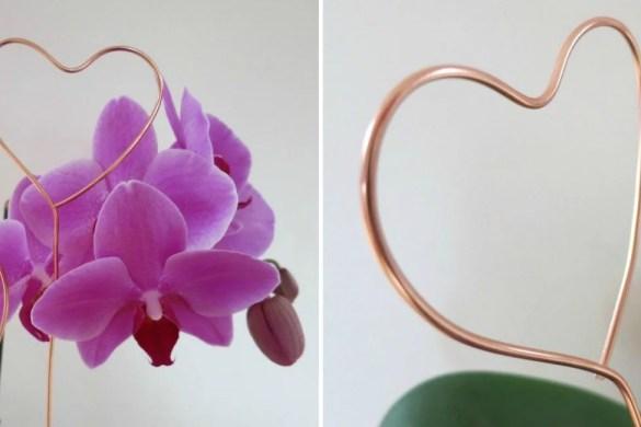 Herz Cake Topper aus Kupferdraht basteln - DIY Anleitung für eine Valentinstagsgeschenk.