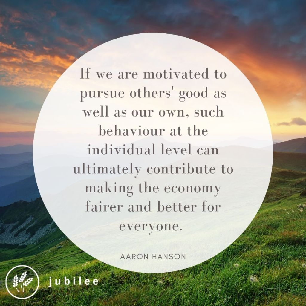 Decisions motivated to pursue others' good as well as our own, such behaviour at the individual level can ultimately contribute to making economic decisions fairer and better for everyone.