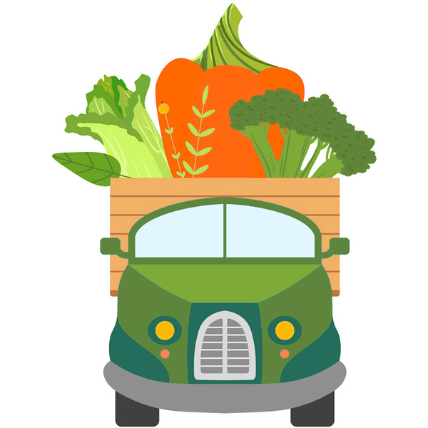 Vegbox on wheels. We drive boxes closer to you.