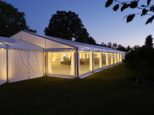 at night marquee hire example