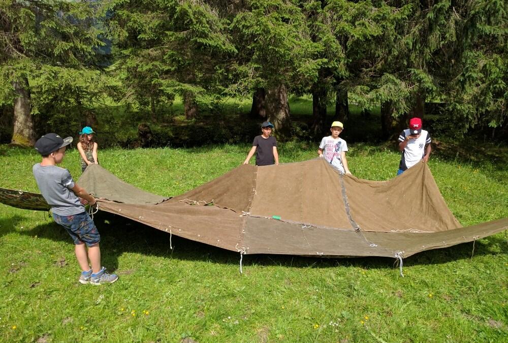 Zelte errichten